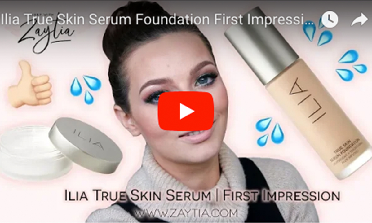Ilia True Skin Serum Foundation First Impression & Review  | Dehydrated Skin
