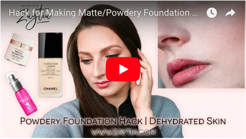 Foundation Hack to Fix Powdery Foundation | Dehydrated Skin