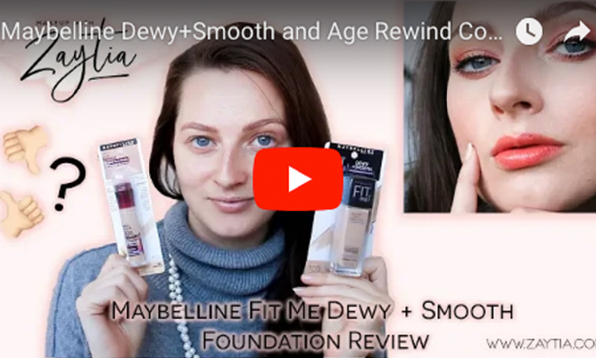 Maybelline Fit Me Dewy+Smooth Foundation & Age Rewind Concealer Review